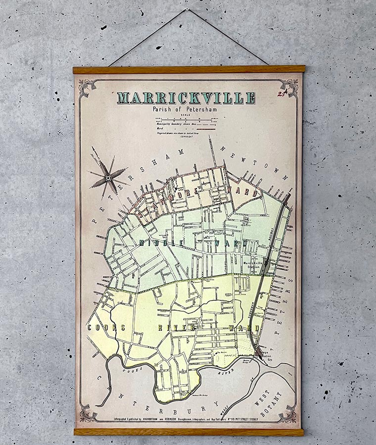 PosterFactory Timber Hangers - Map